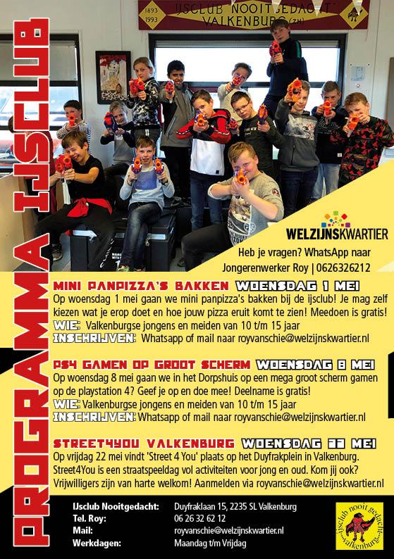 ijsclub Flyer april mei 19