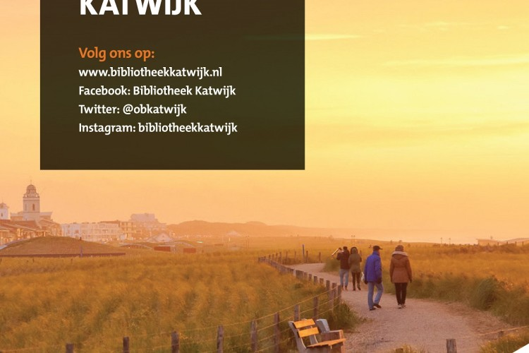 Voorkant voorjaarsfolder 2020 Bibliotheek Katwijk